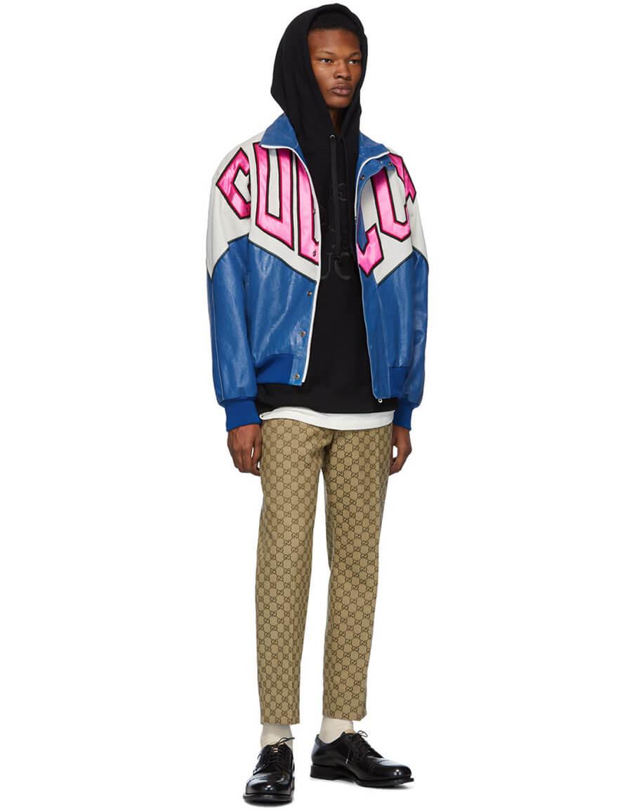 GUCCI Blue Banana Bomber Jacket