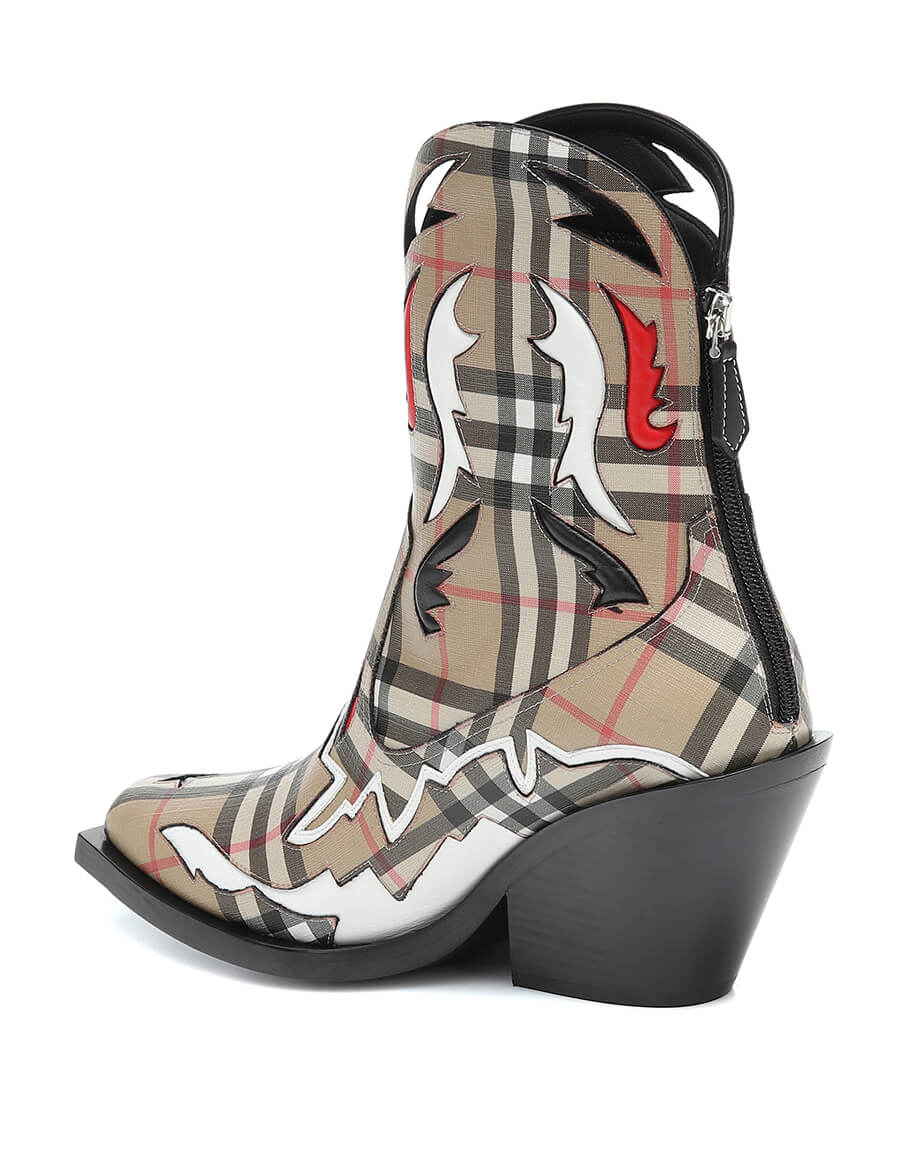 BURBERRY Matlock canvas ankle boots