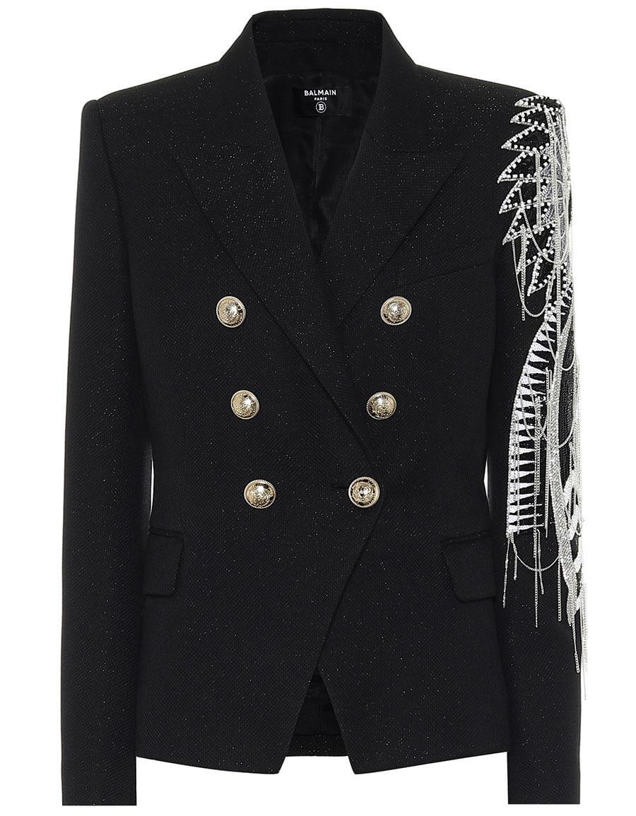 BALMAIN Crystal embellished blazer