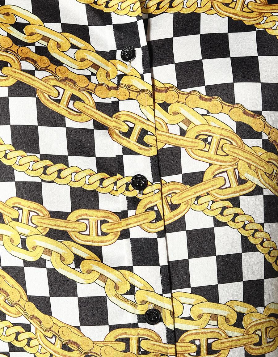 BALENCIAGA Printed satin shirt