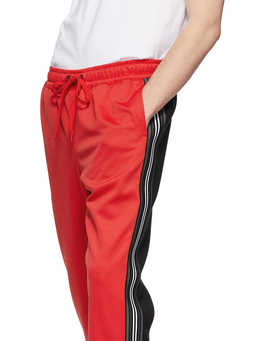 BURBERRY Red & Black Enton Track Pants
