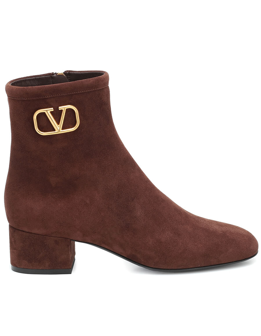 VALENTINO GARAVANI Valentino Garavani VLOGO suede ankle boots