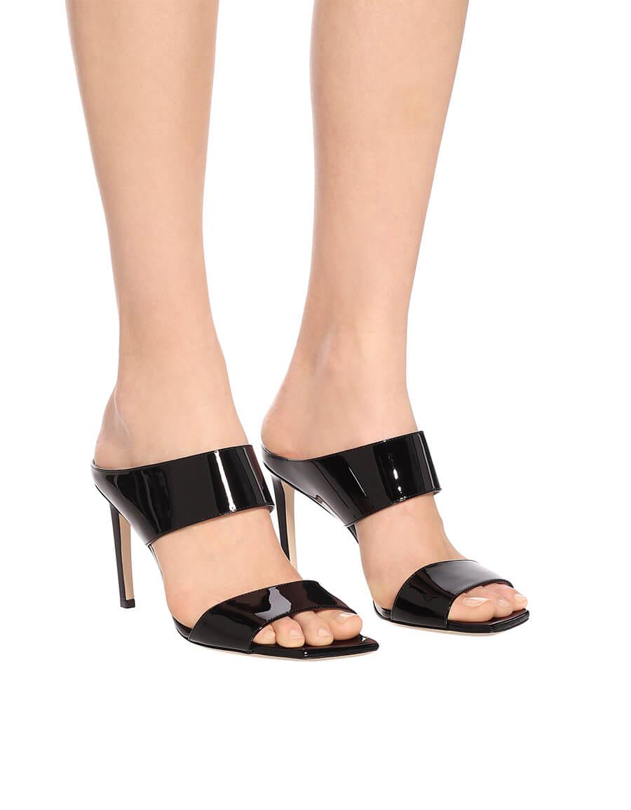 JIMMY CHOO Hira 85 patent leather sandals