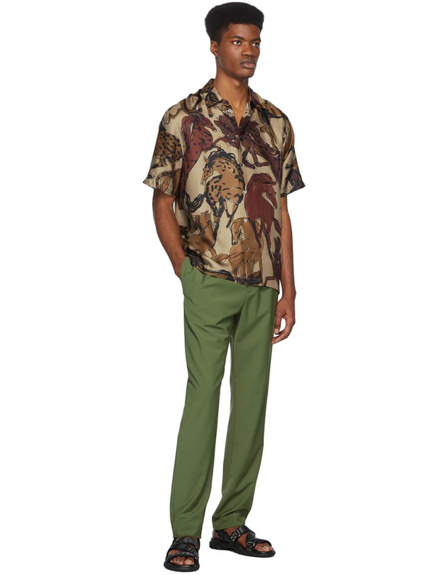 STELLA MCCARTNEY Beige Ricardo Short Sleeve Shirt
