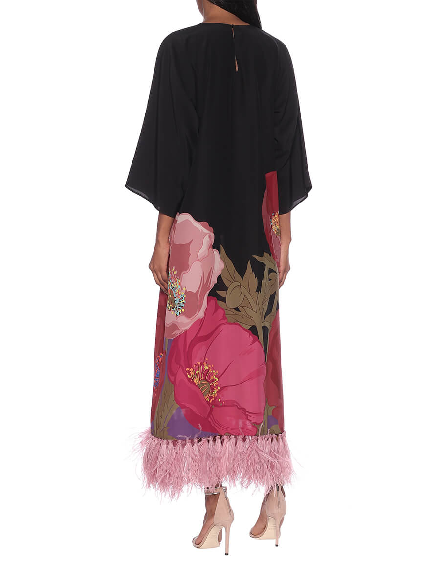 VALENTINO Printed silk crêpe gown