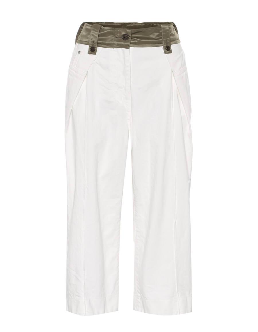 SACAI High rise cropped wide leg jeans