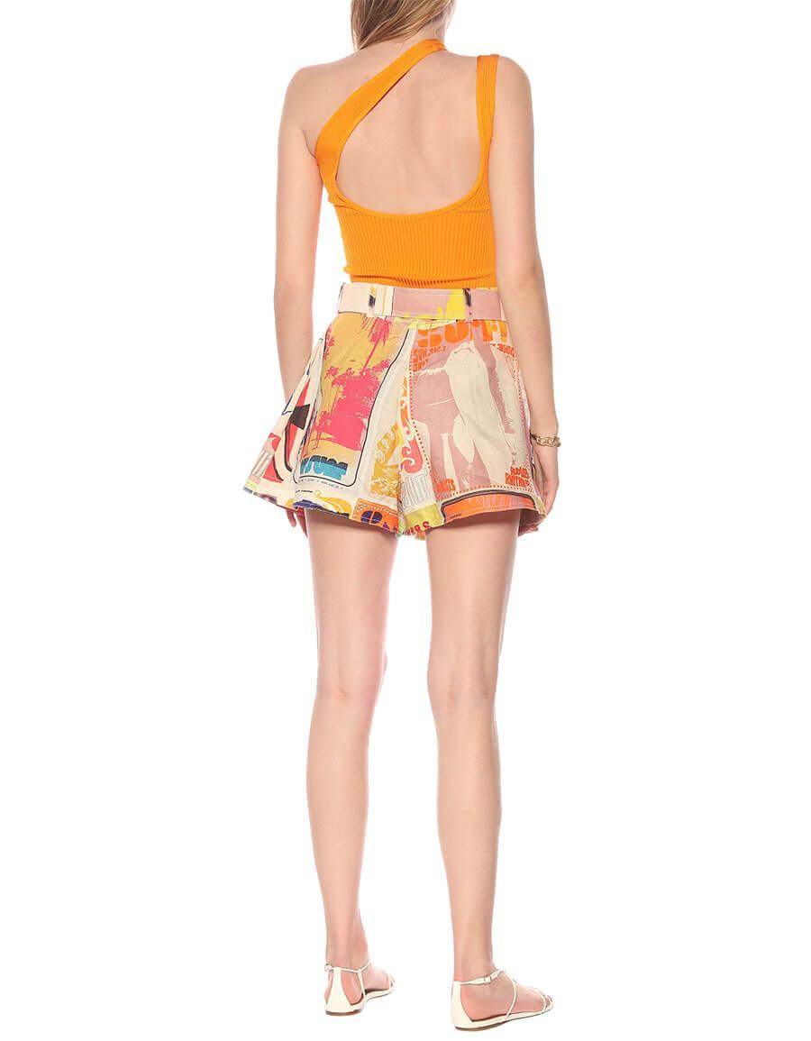 ZIMMERMANN Brightside high rise linen shorts