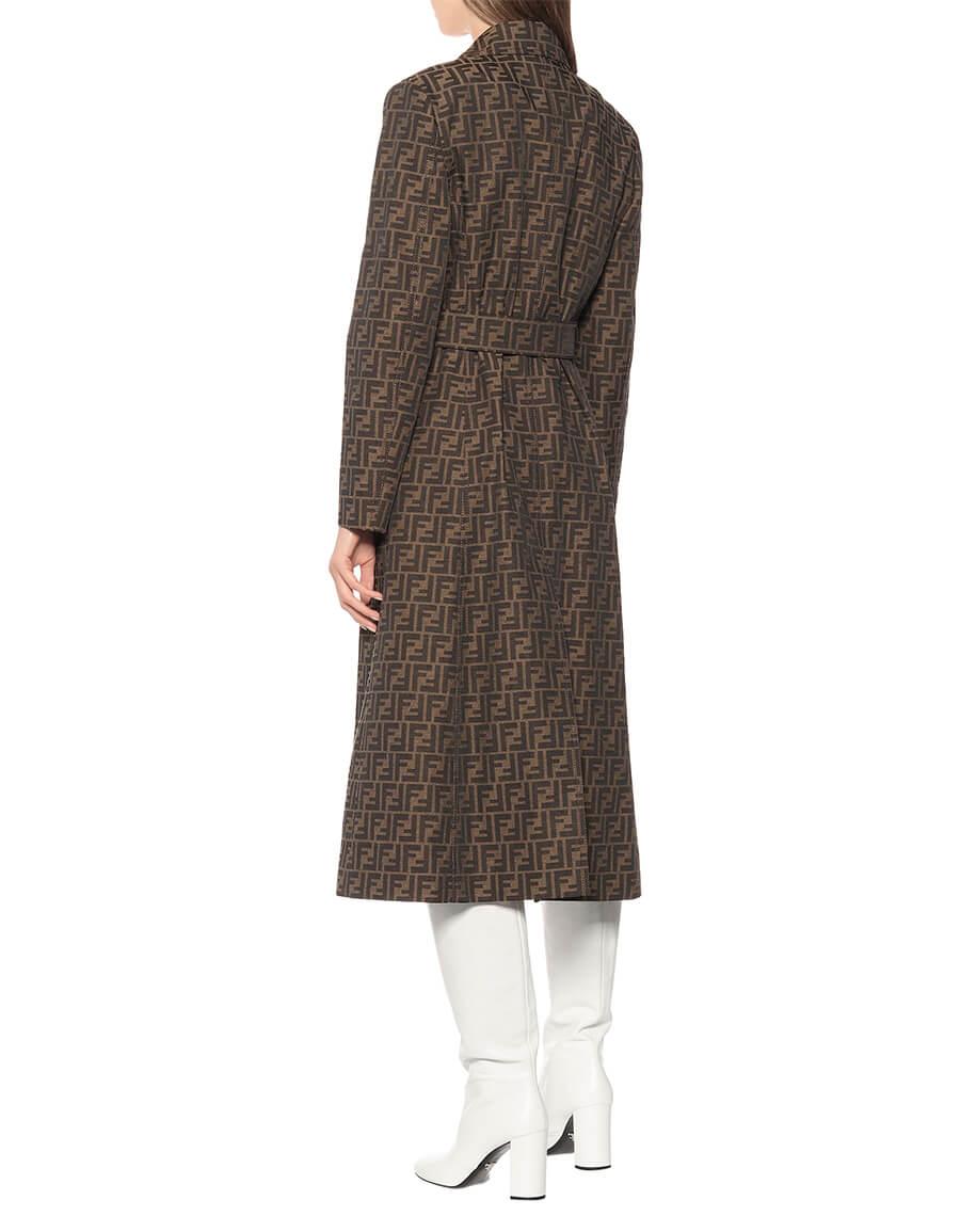 FENDI FF canvas trench coat