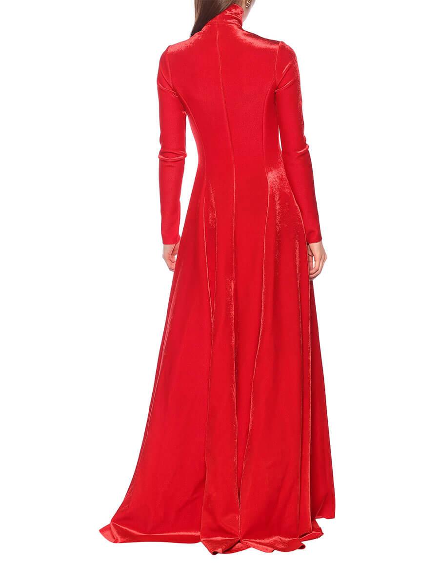 BALENCIAGA Ballroom bonded velvet gown