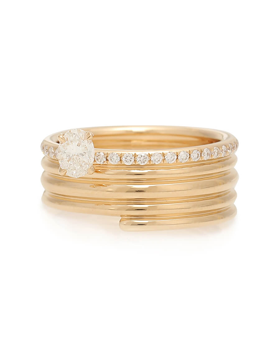 REPOSSI Blast 18kt rose gold ring with diamonds