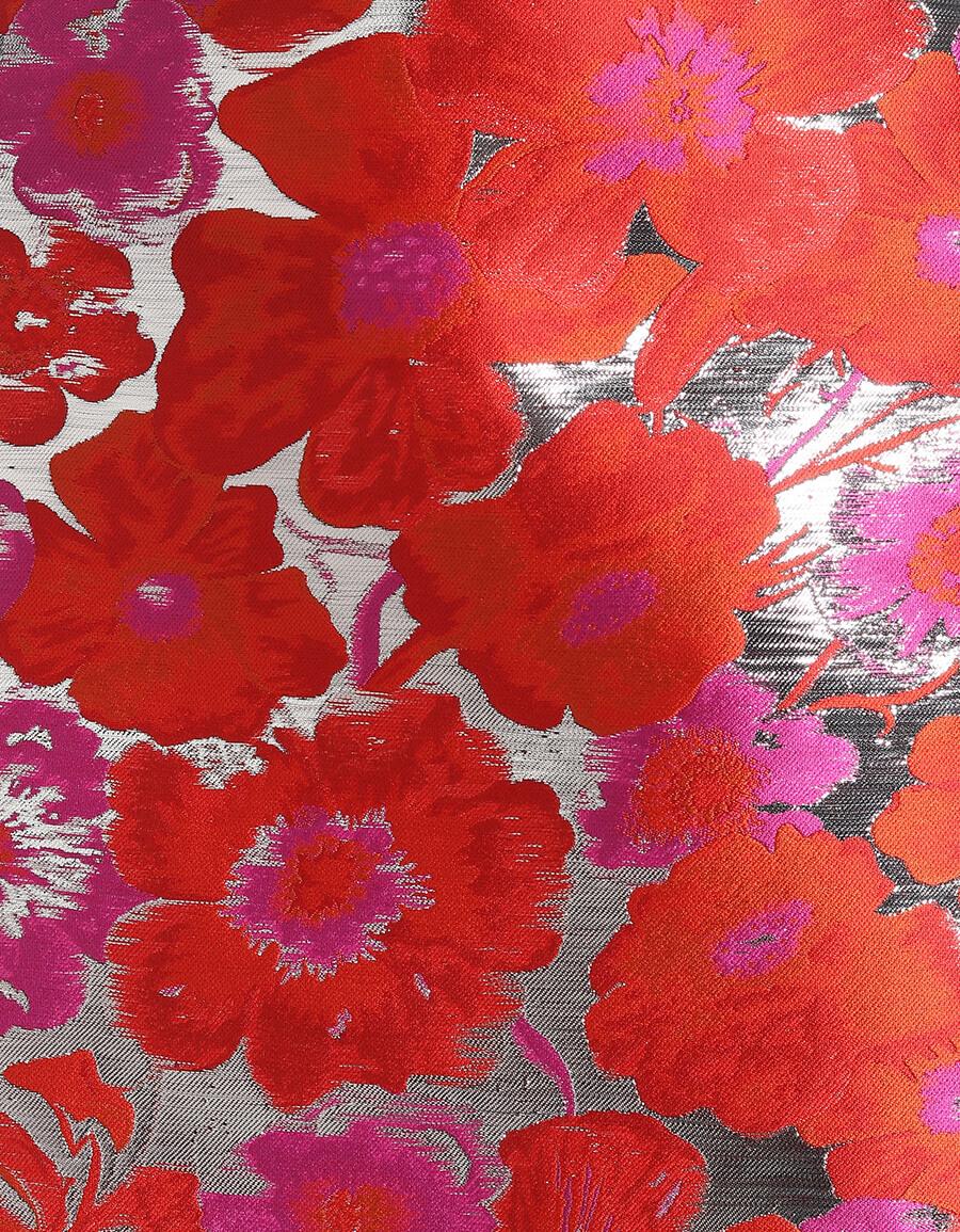 MSGM Floral brocade miniskirt
