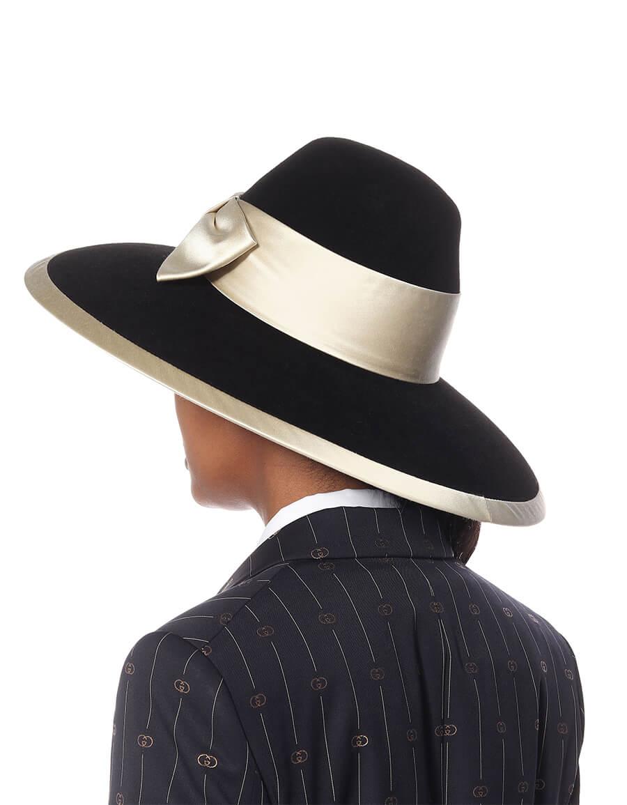 GUCCI Bow embellished felt hat