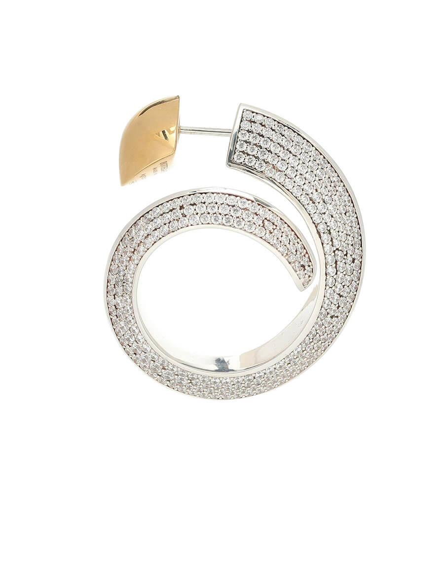 BOTTEGA VENETA Embellished hoop earrings