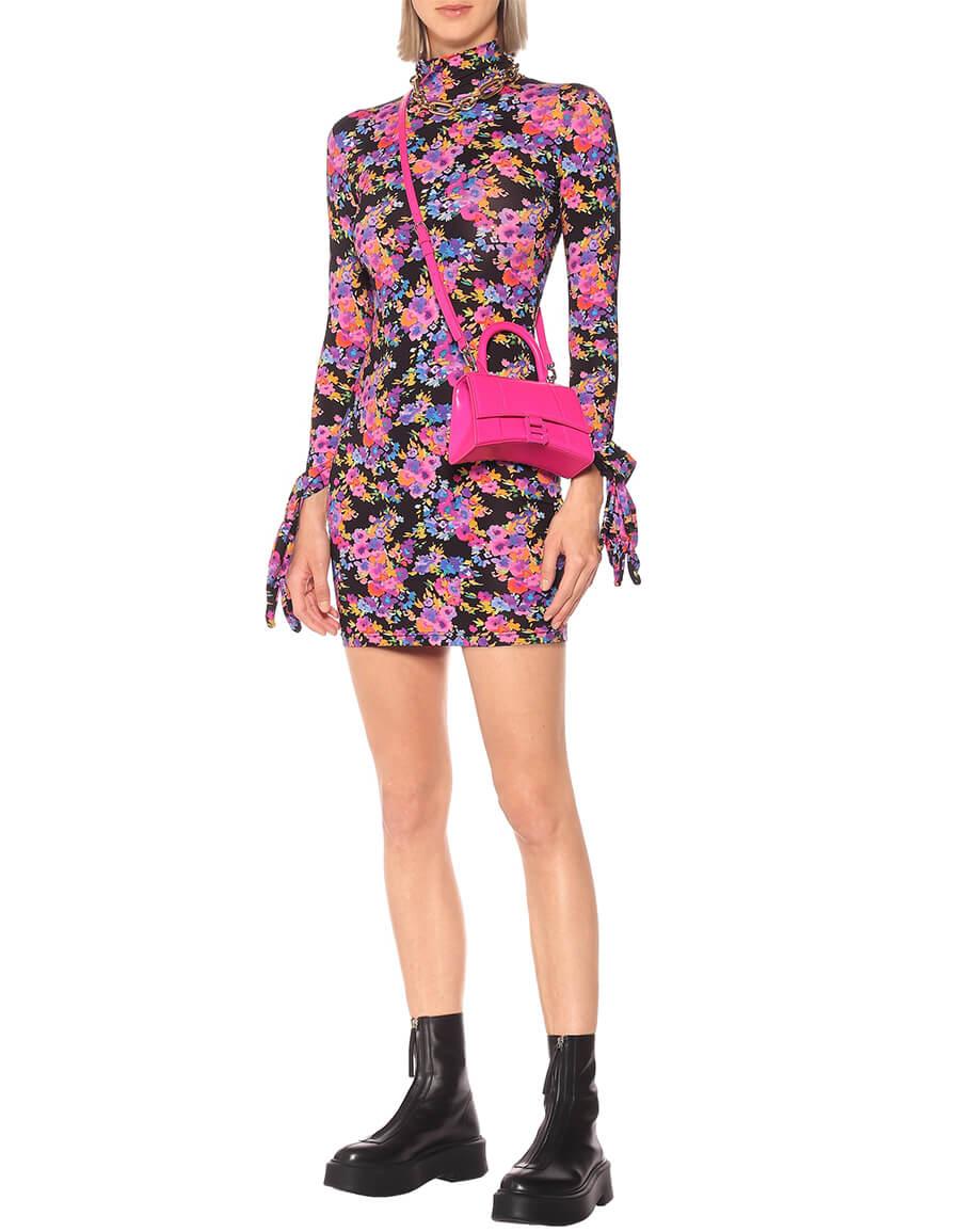 VETEMENTS Floral stretch jersey glove minidress