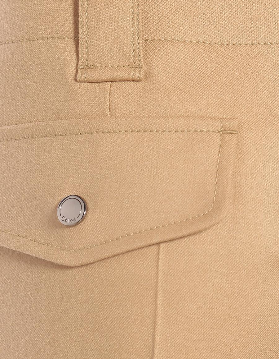 CHLOÉ High rise stretch wool pants