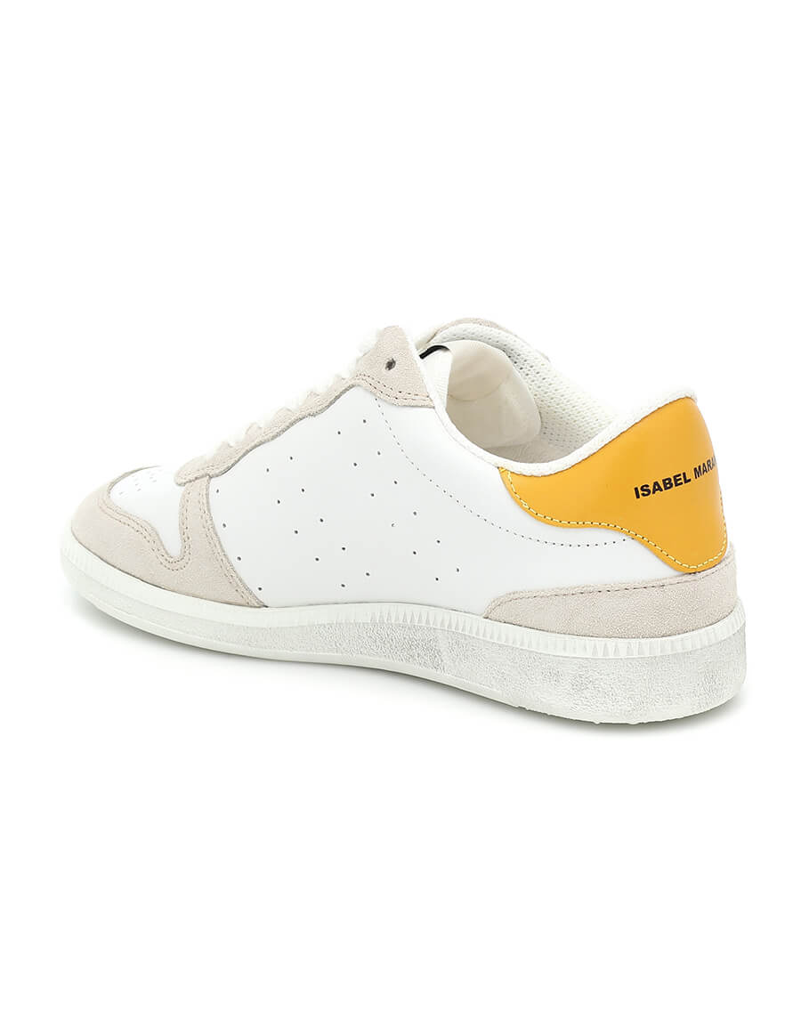 ISABEL MARANT Bullian leather sneakers