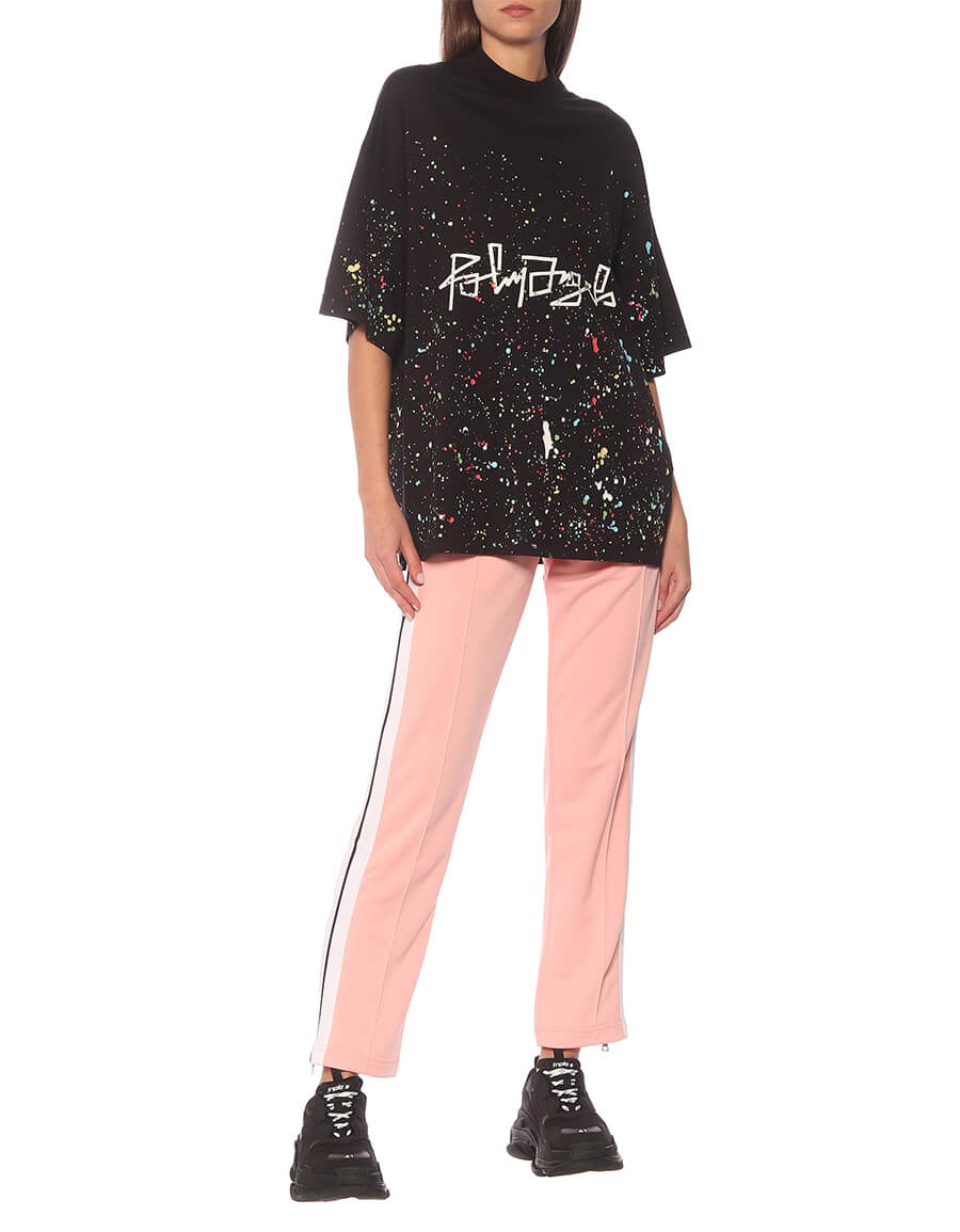 PALM ANGELS Printed cotton jersey T shirt