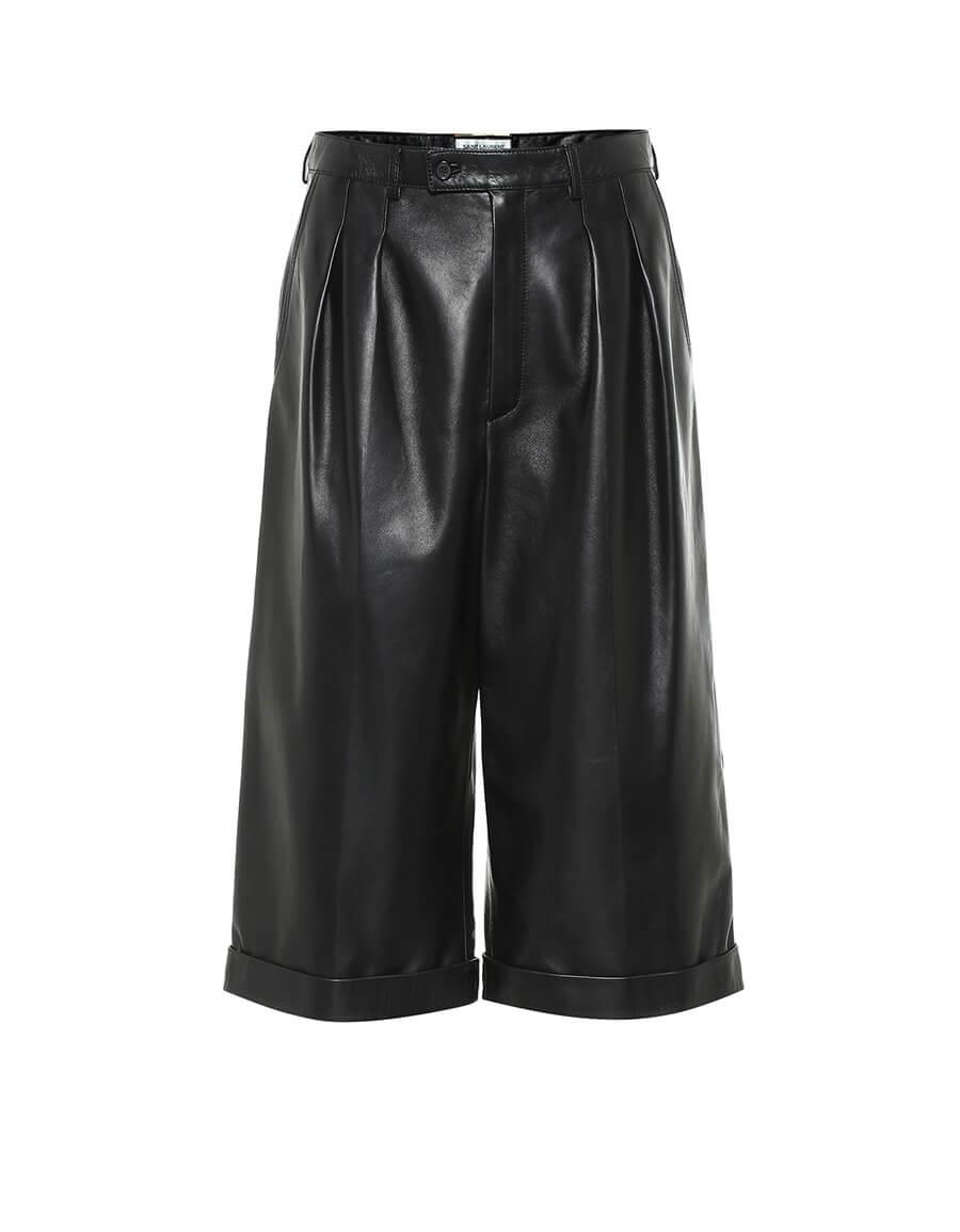 SAINT LAURENT Leather Bermuda shorts