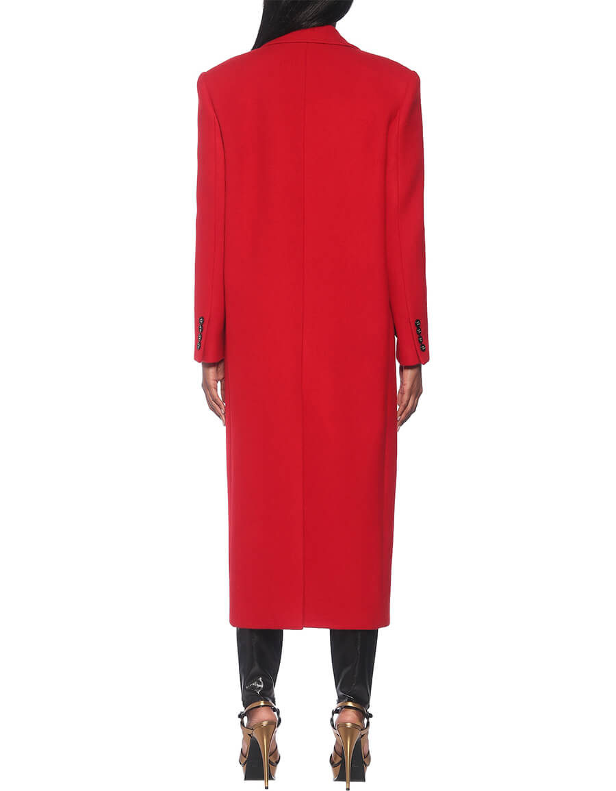 SAINT LAURENT Cashmere and wool coat