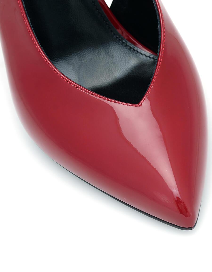 SAINT LAURENT Kika patent leather slingback pumps