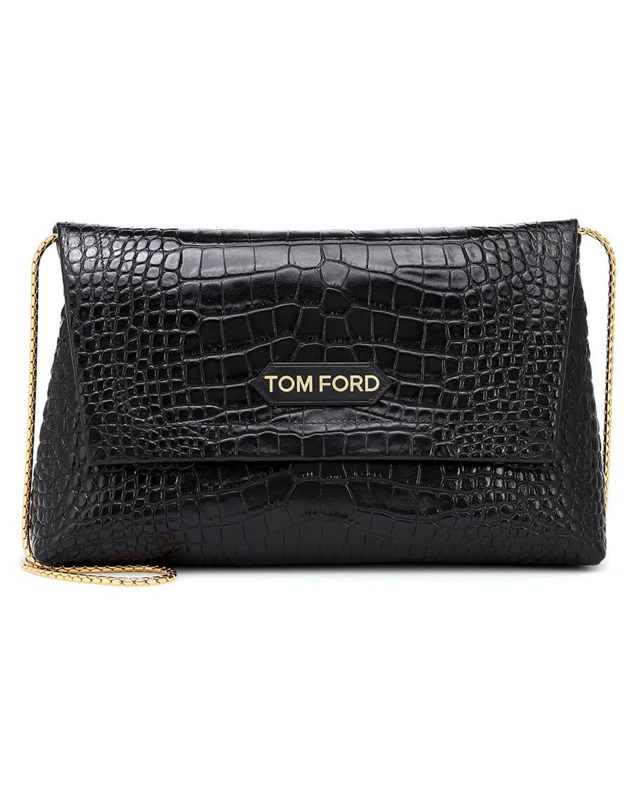 TOM FORD Medium croc effect shoulder bag