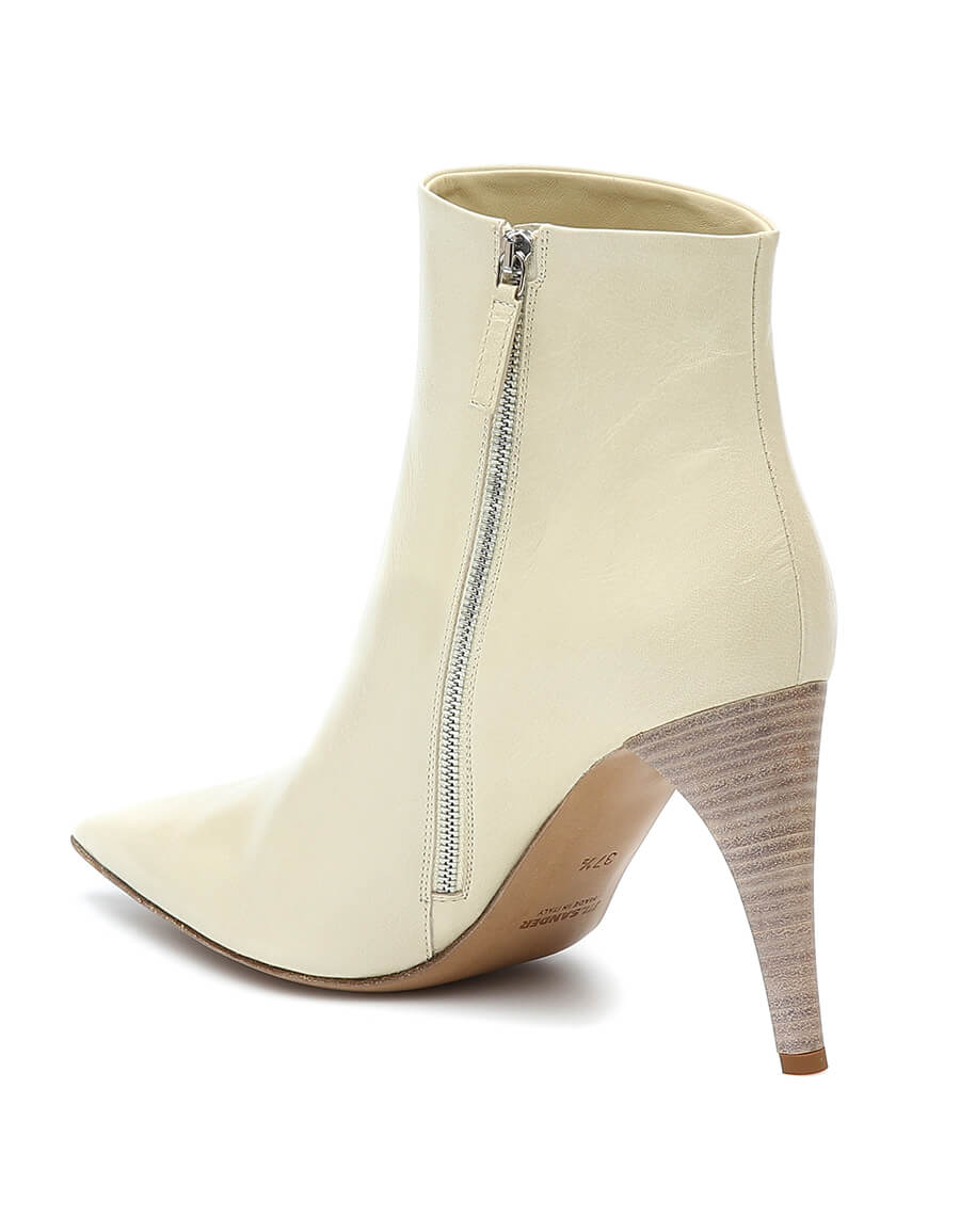 JIL SANDER Pointed leather ankle boots