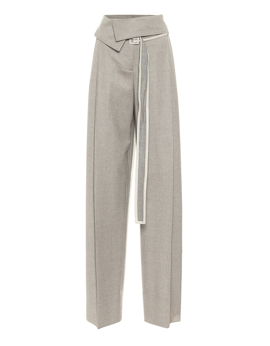 STELLA MCCARTNEY High rise wool wide leg pants