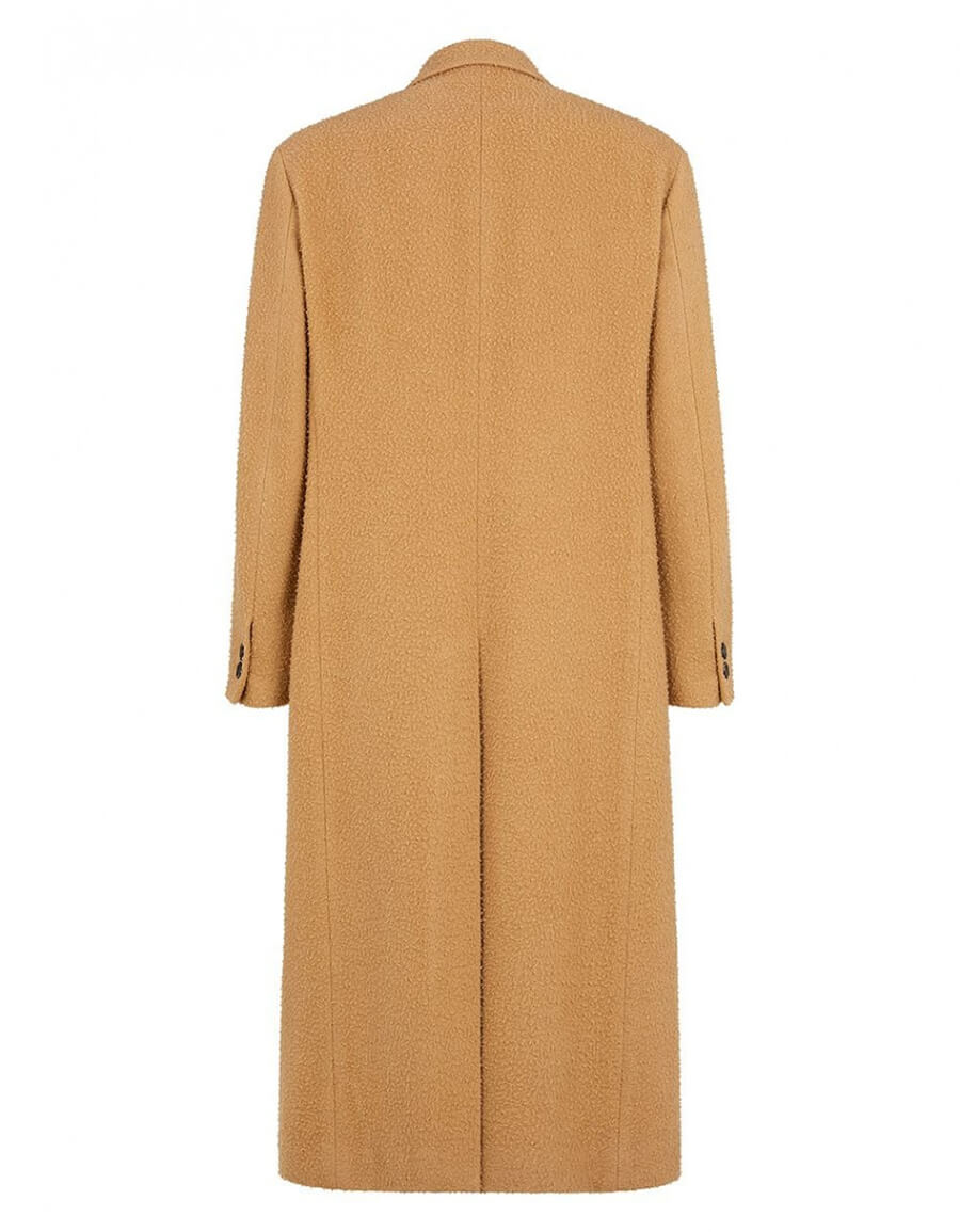 FENDI DOUBLE BREASTED WOOL COAT