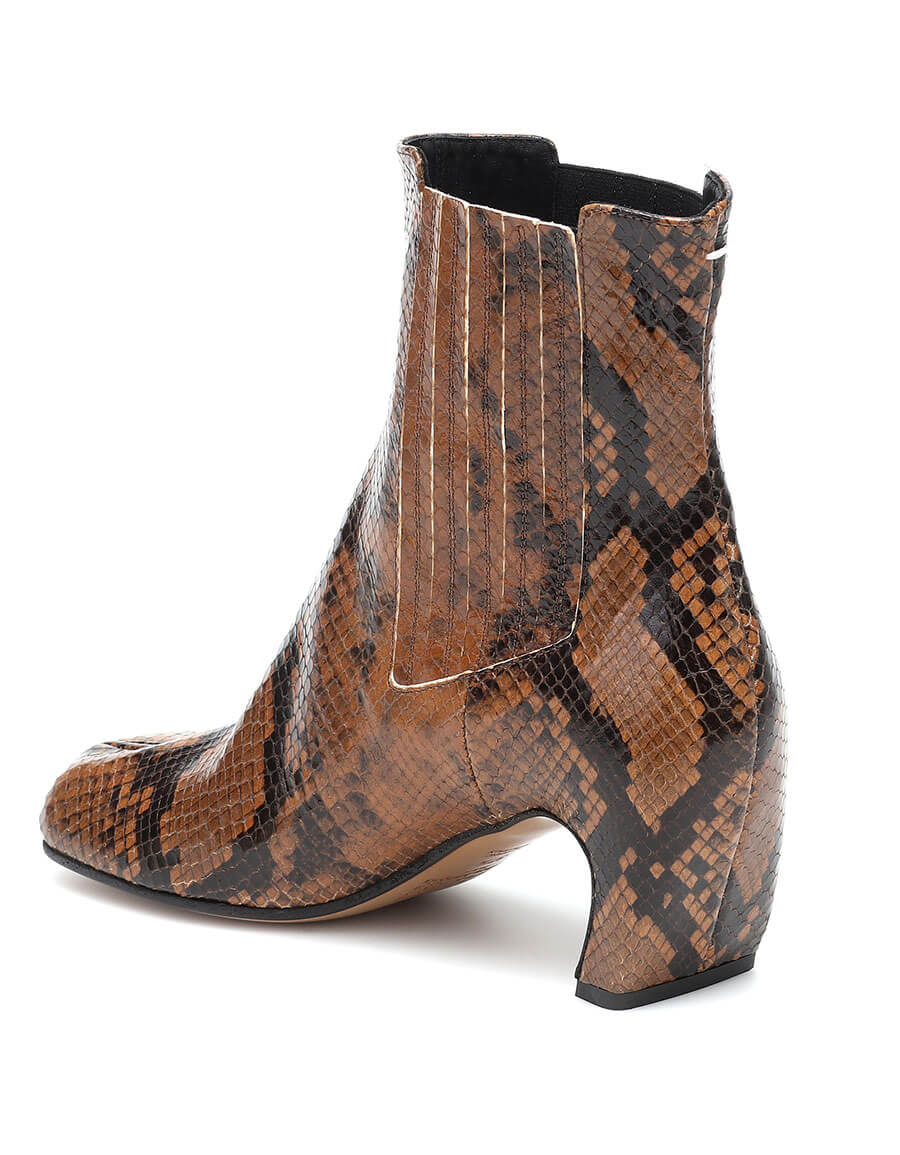 MAISON MARGIELA Tabi snake effect leather ankle boots
