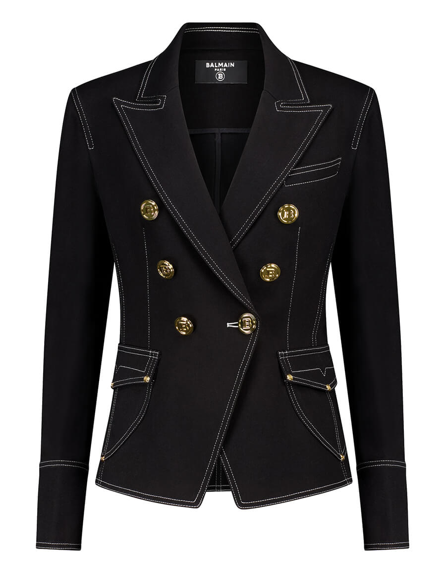 BALMAIN Stretch cotton denim blazer