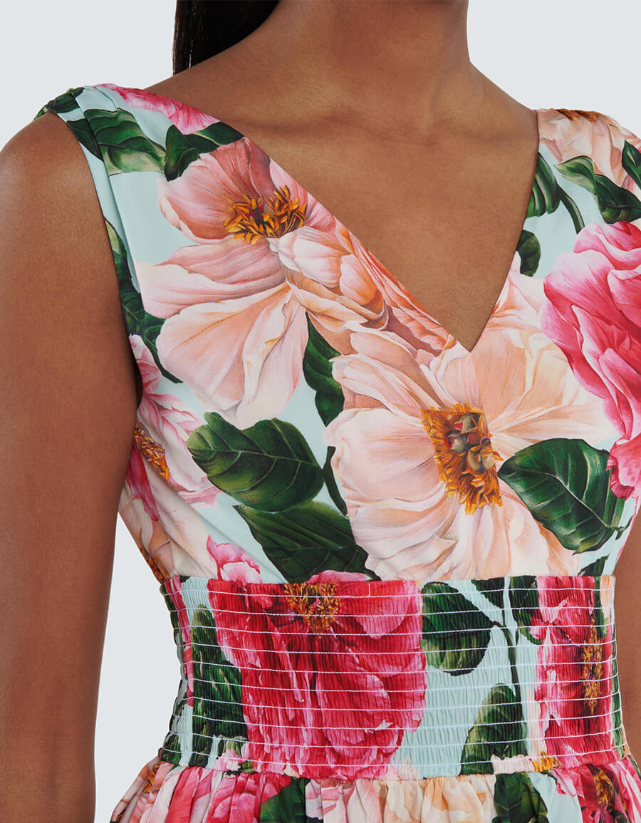 DOLCE & GABBANA Floral cotton poplin minidress