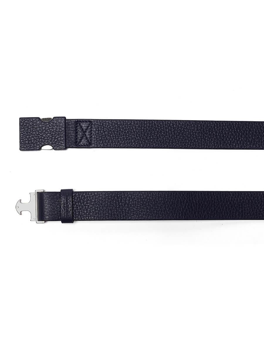 MAISON MARGIELA Navy Blue Leather Belt