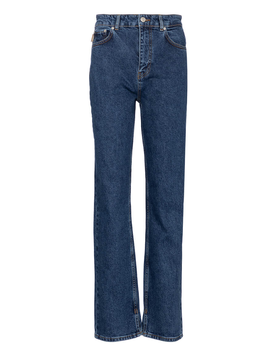 GANNI Mid rise straight jeans