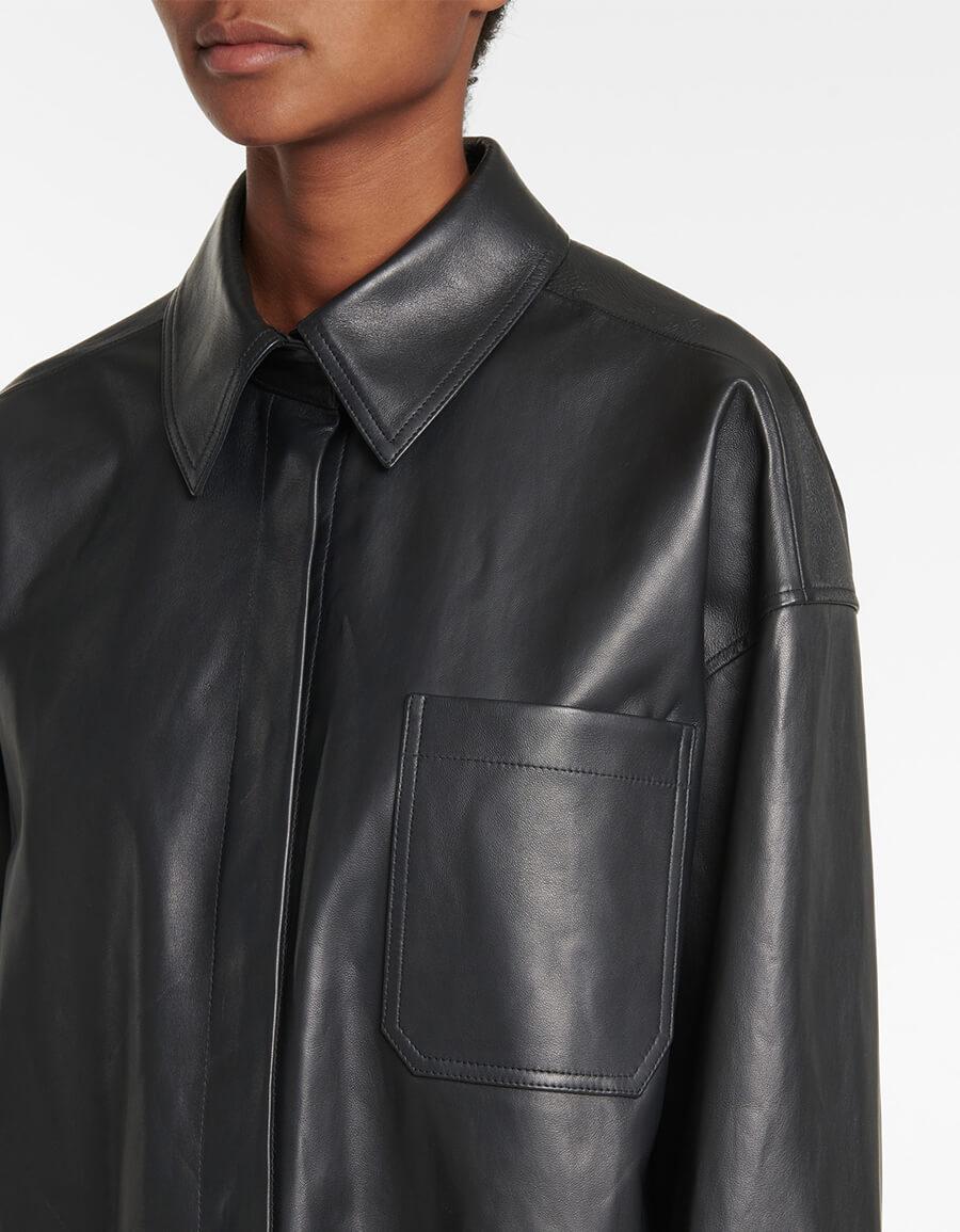ACNE STUDIOS Leather shirt jacket