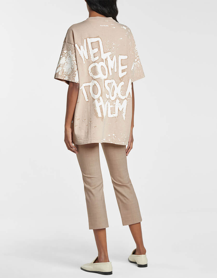 ACNE STUDIOS Printed cotton T shirt