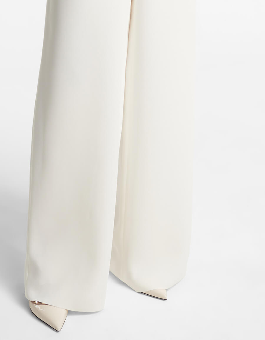 VALENTINO Valentino high rise wide leg silk pants
