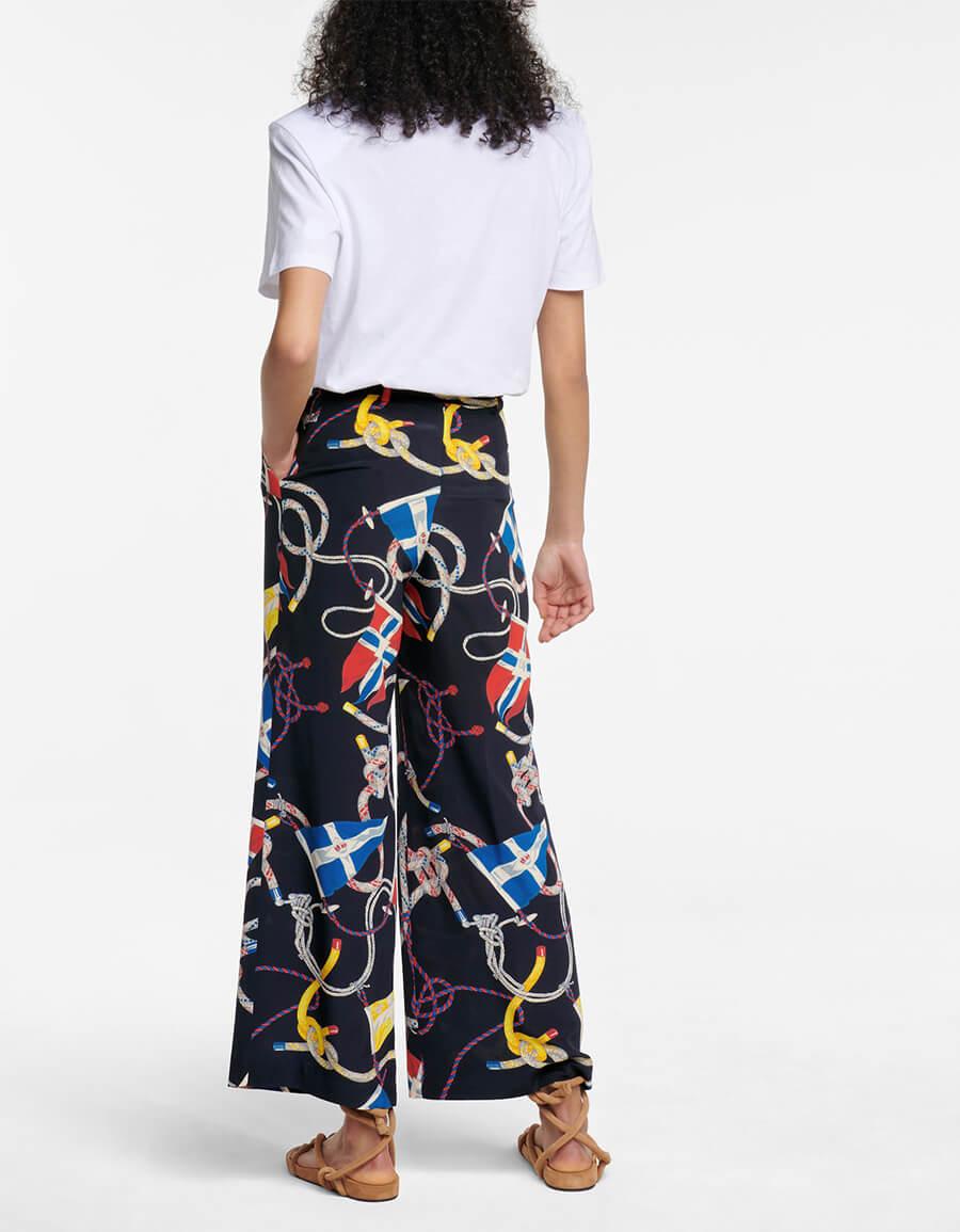 ETRO Printed wide leg silk pants