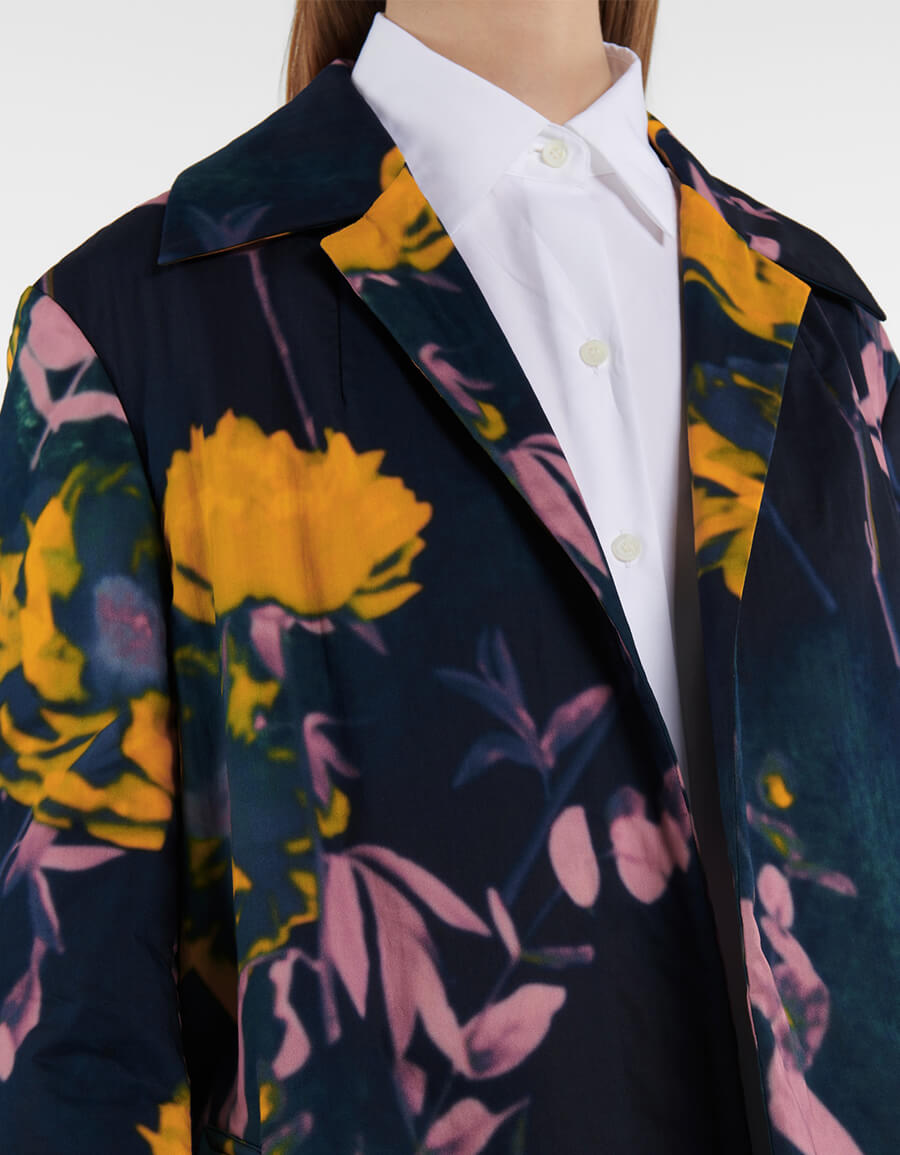 DRIES VAN NOTEN Printed cotton coat
