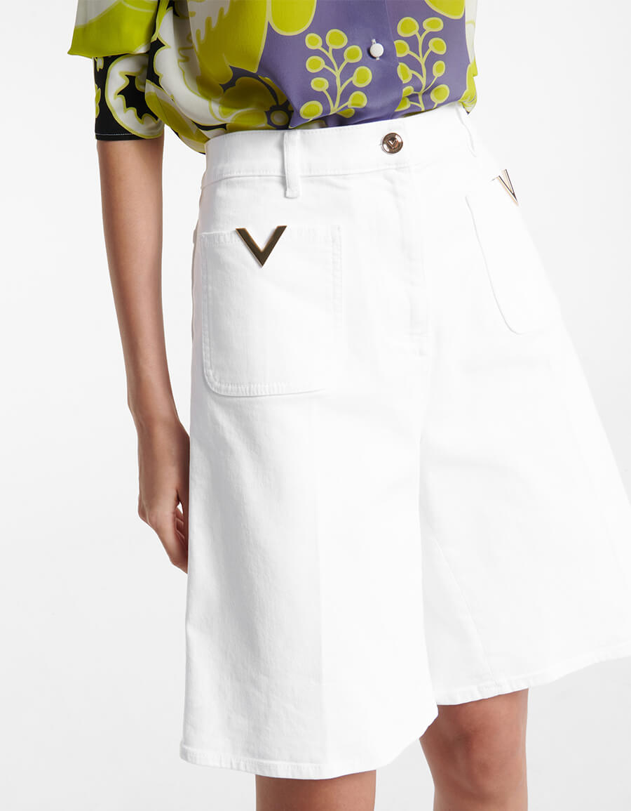 VALENTINO Valentino VGOLD denim Bermuda shorts