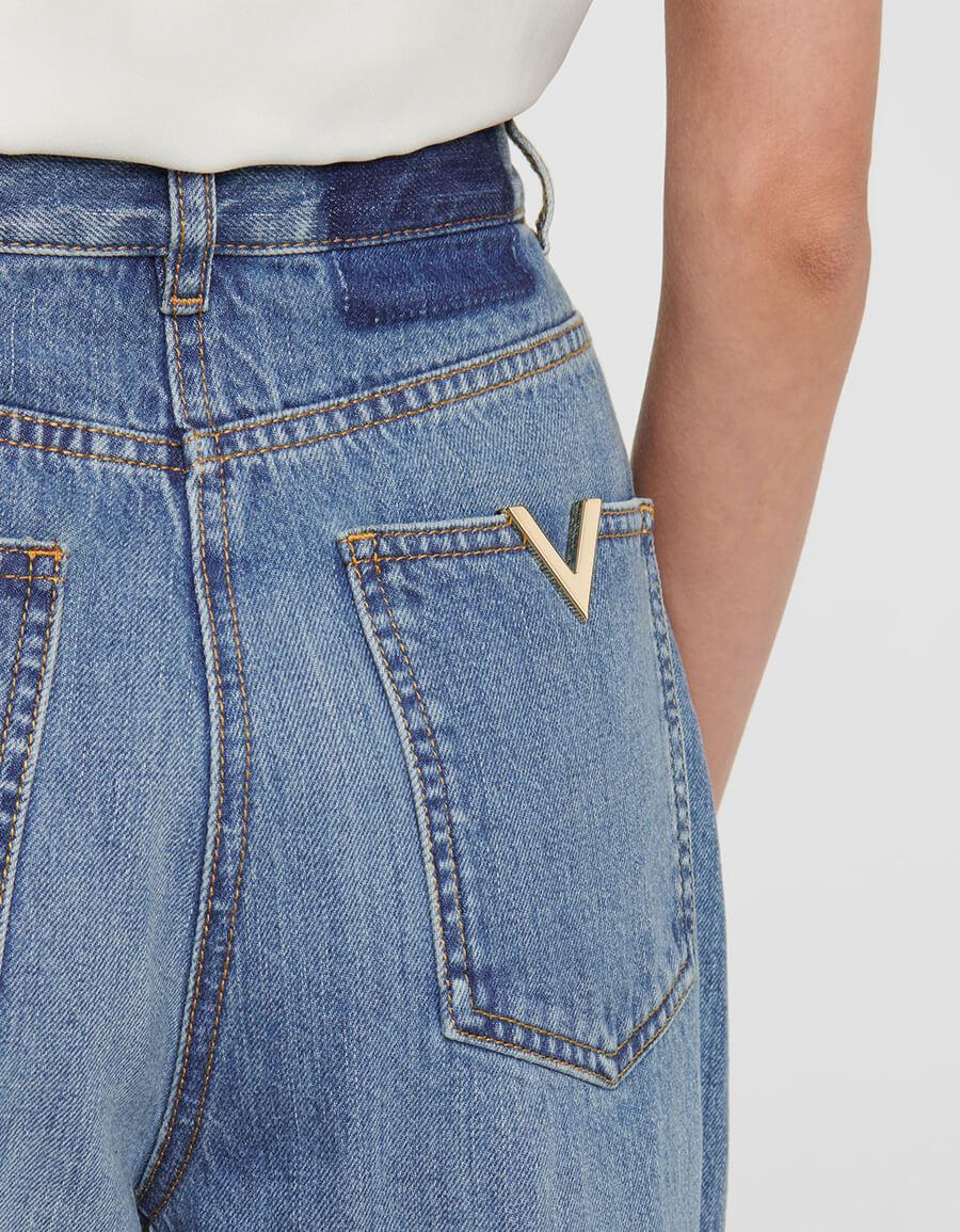 VALENTINO Valentino VGOLD wide leg jeans