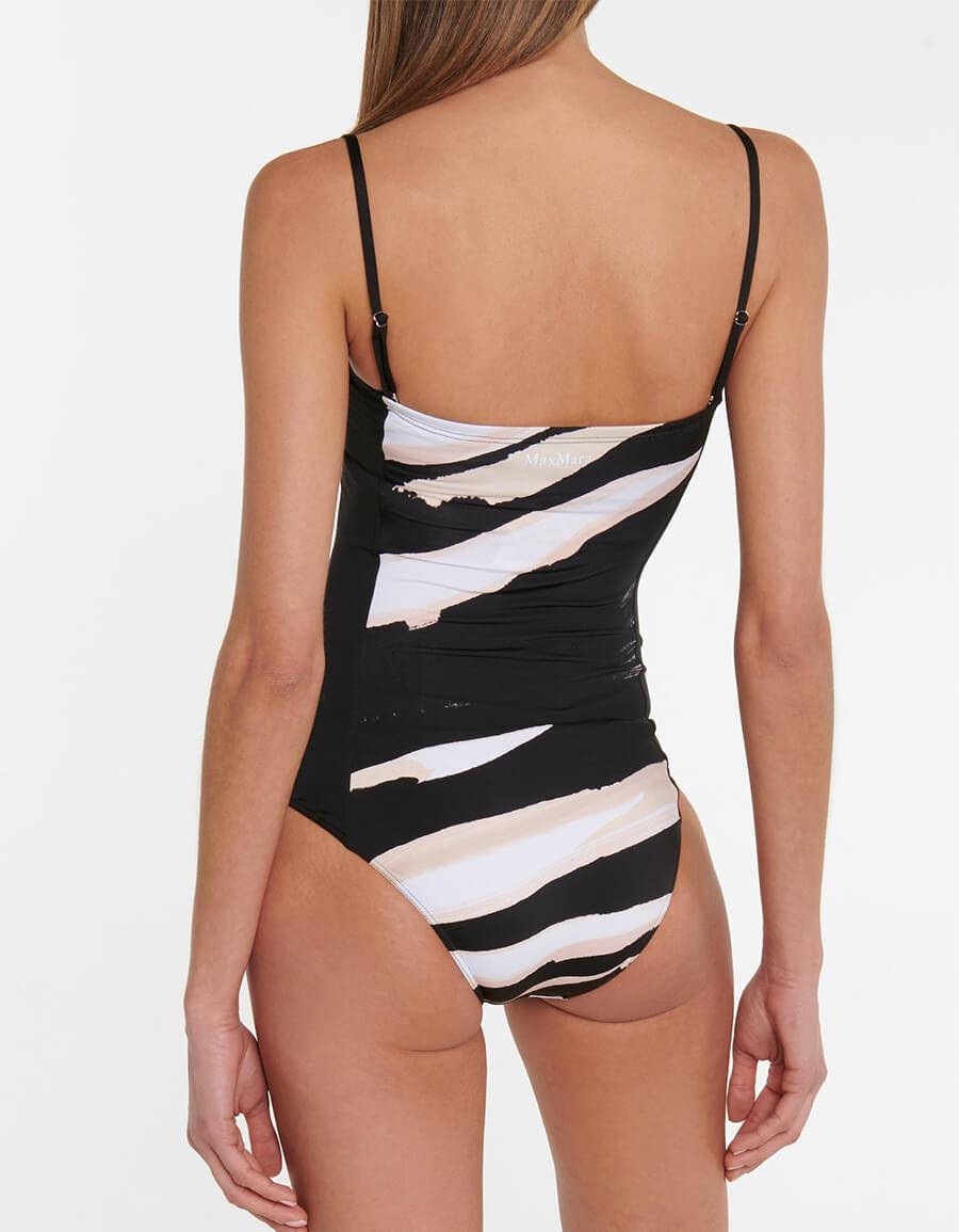 MAX MARA George striped swimsuit