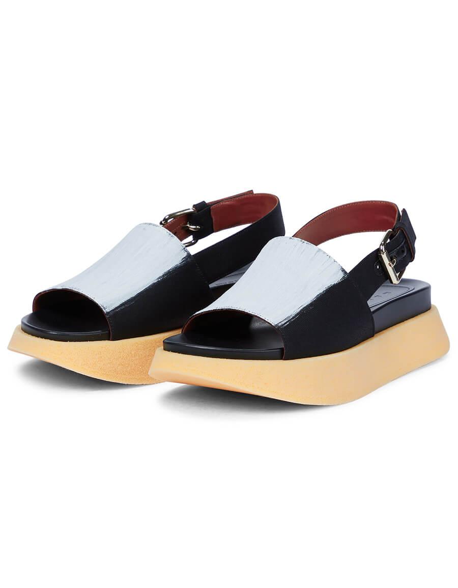 MARNI Painted slingback platform sandals