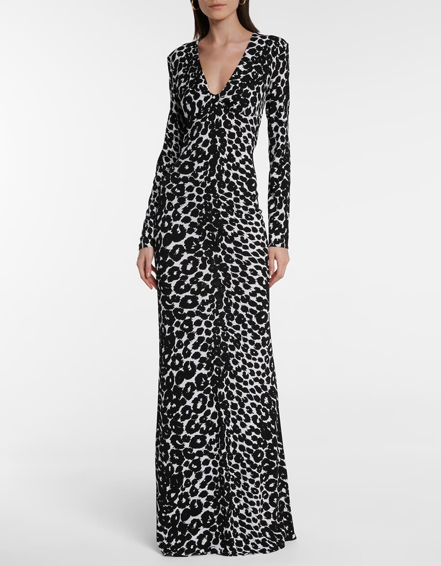 TOM FORD Leopard print jersey midi dress