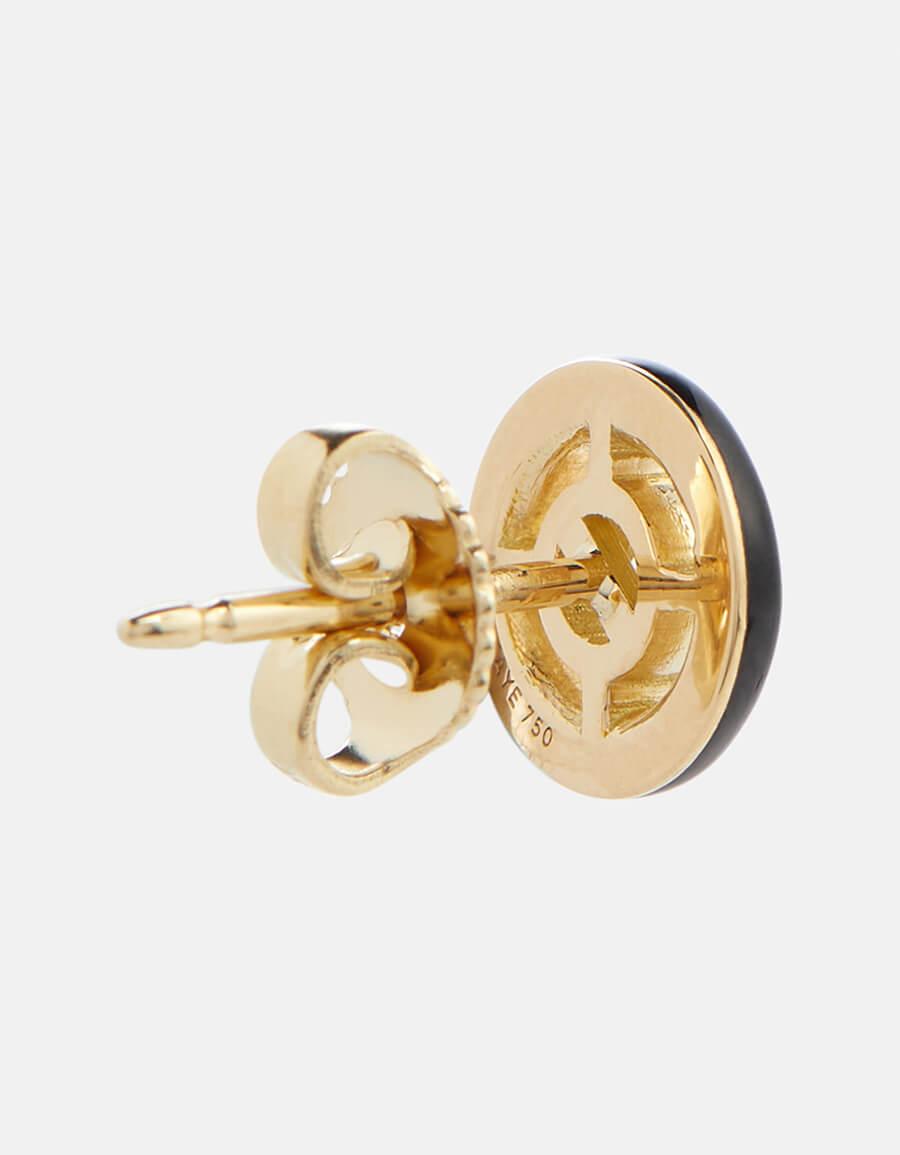 MELISSA KAYE Sylvie 18kt gold stud earrings with diamonds