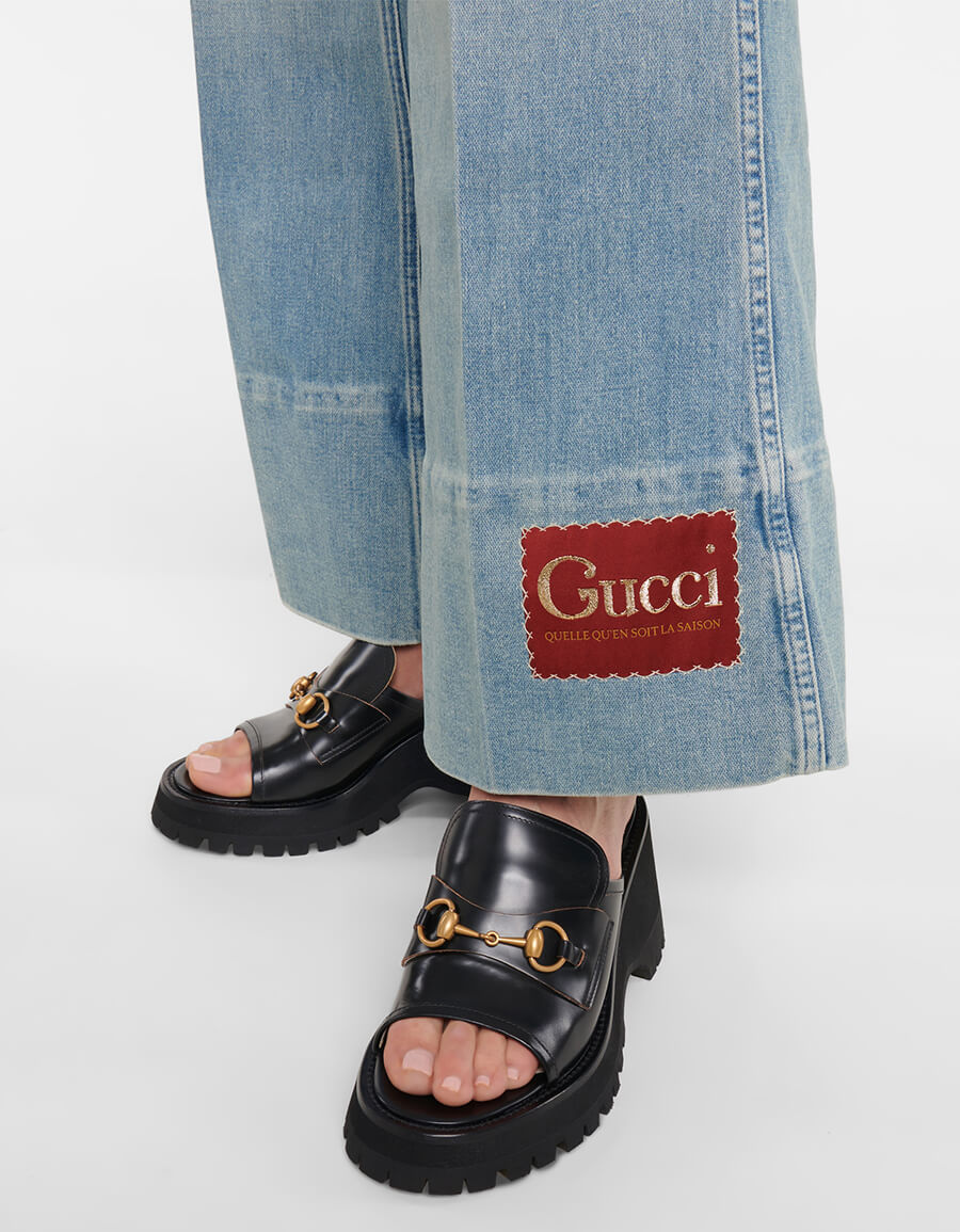 GUCCI Mid rise flared jeans