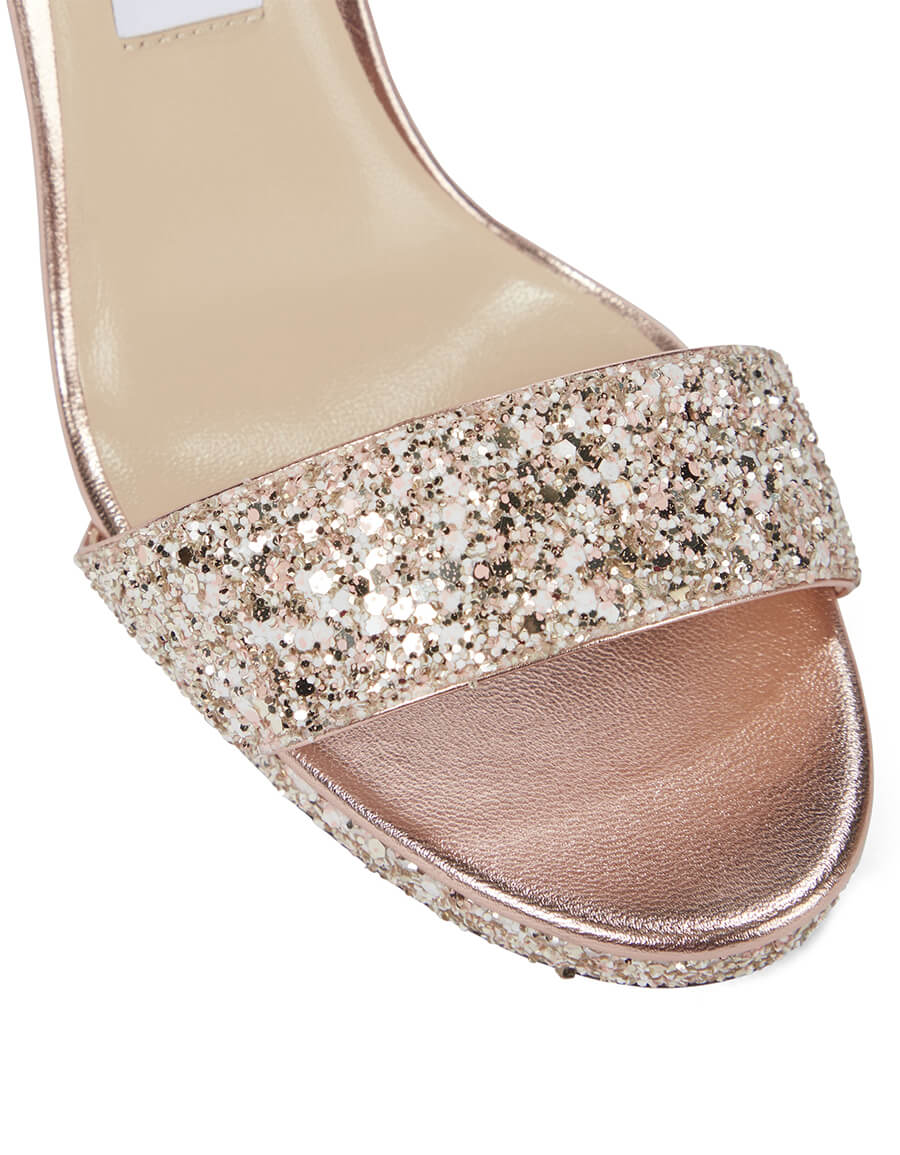 JIMMY CHOO Misty 100 glitter sandals