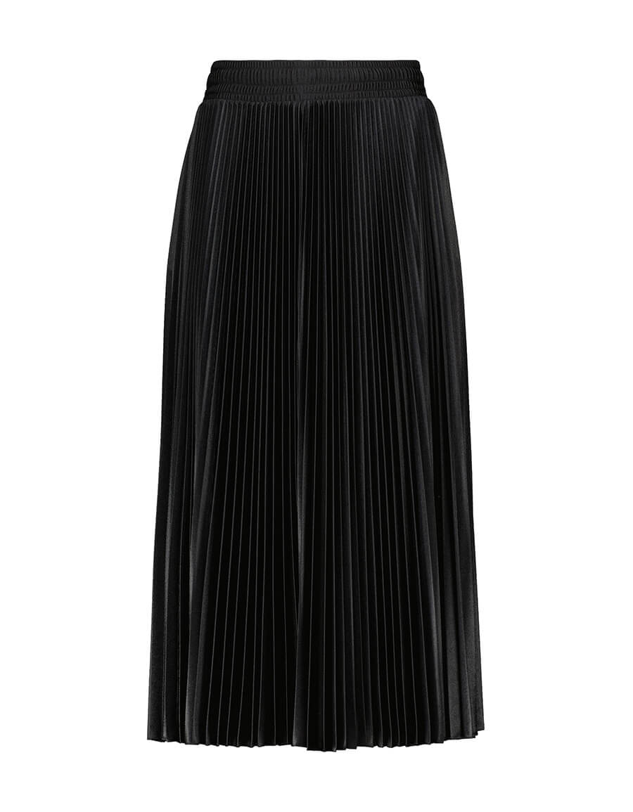 BALENCIAGA Micro pleated jersey midi skirt