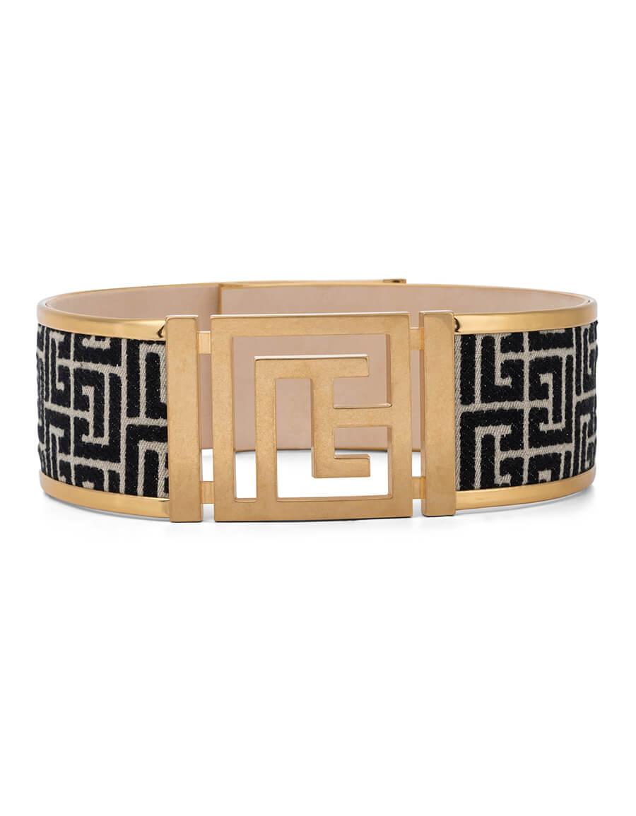 BALMAIN Monogram jacquard belt