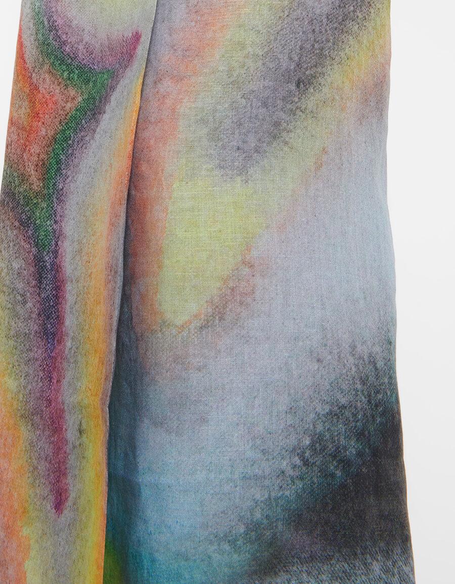 ACNE STUDIOS Printed linen wrap skirt
