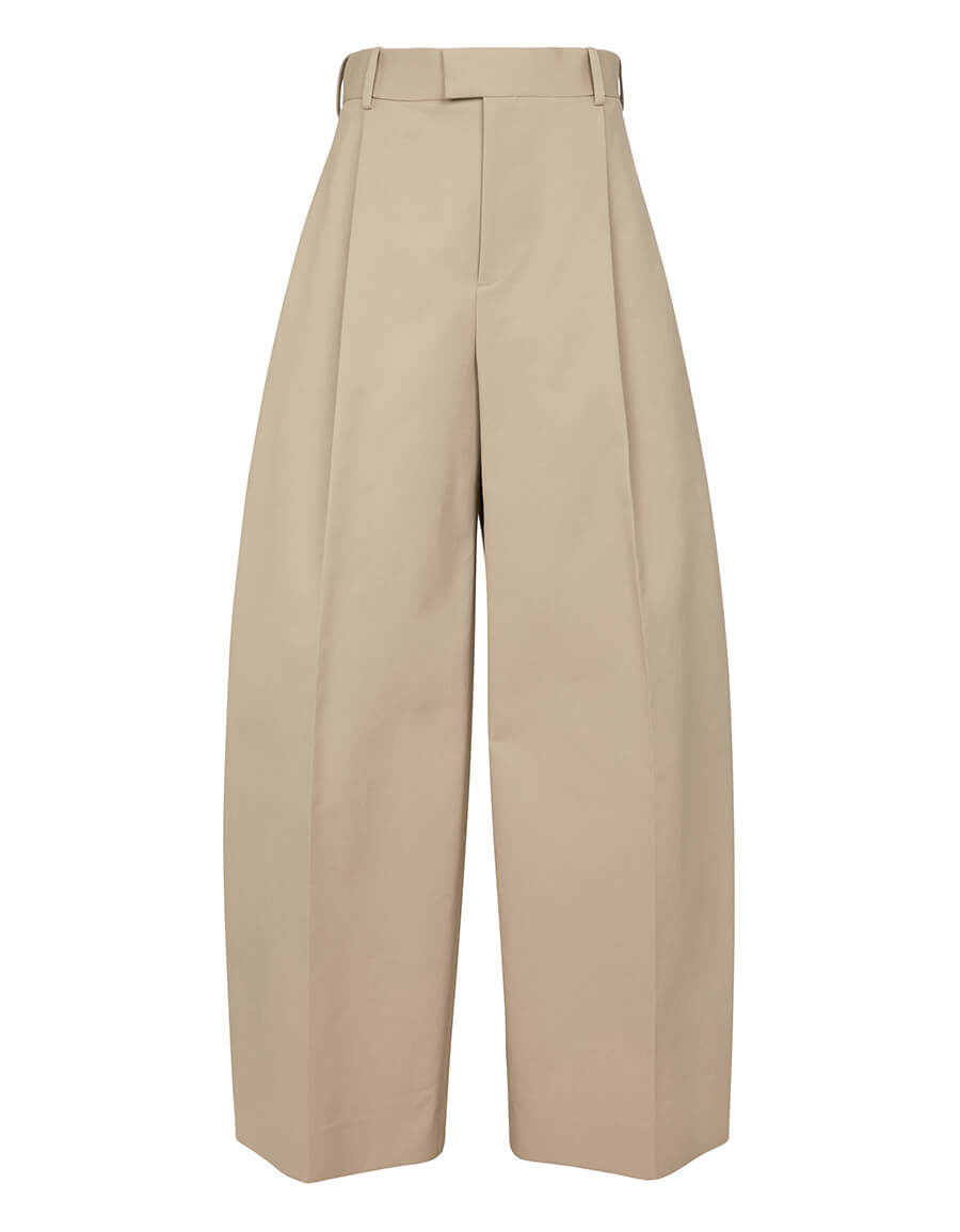 BOTTEGA VENETA High rise wide leg cotton pants